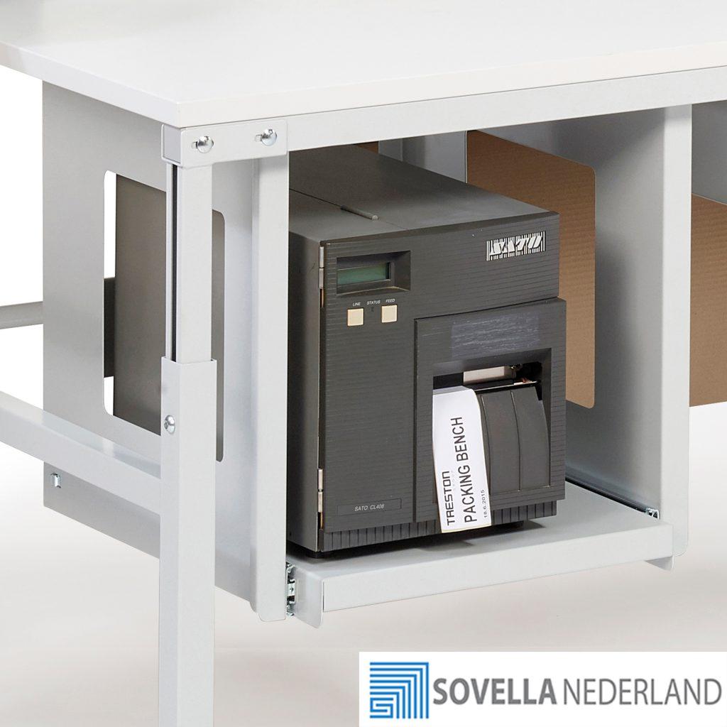 Universele printerhouder onder het tafelblad PSP50