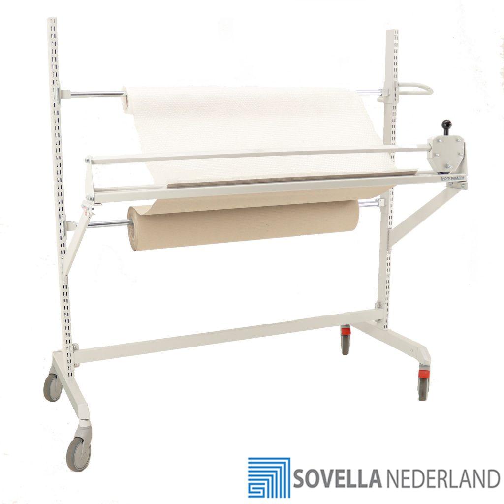 Sovella Nederland BV trolley met snij unit voor inpaktafel