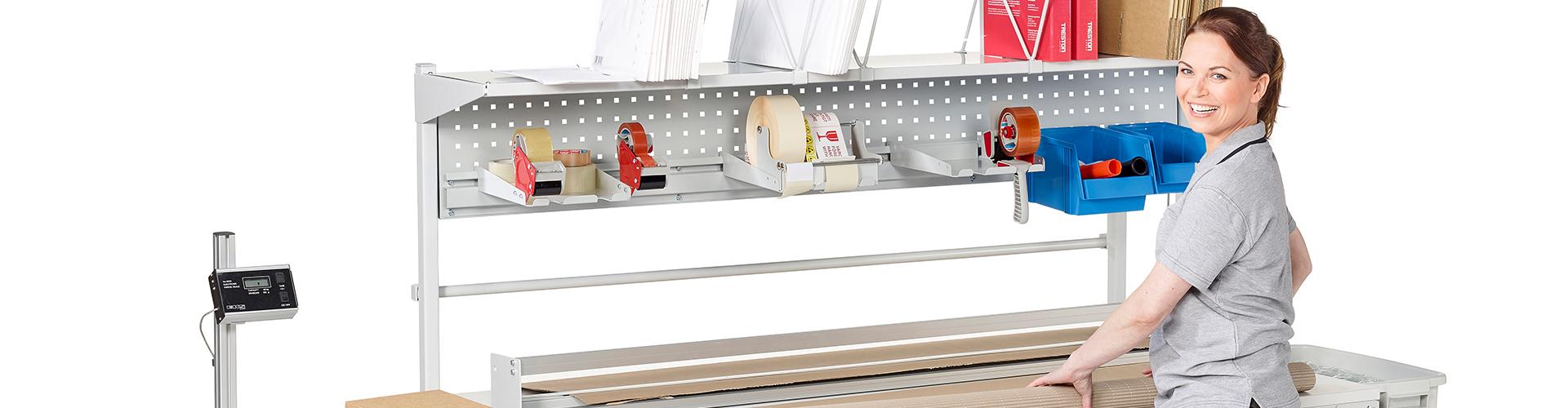 Sovella Nederland levert modulaire inpaktafels van het merk Treston