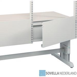 Sovella Nederland Treston kabeldeksel achter een inpaktafel