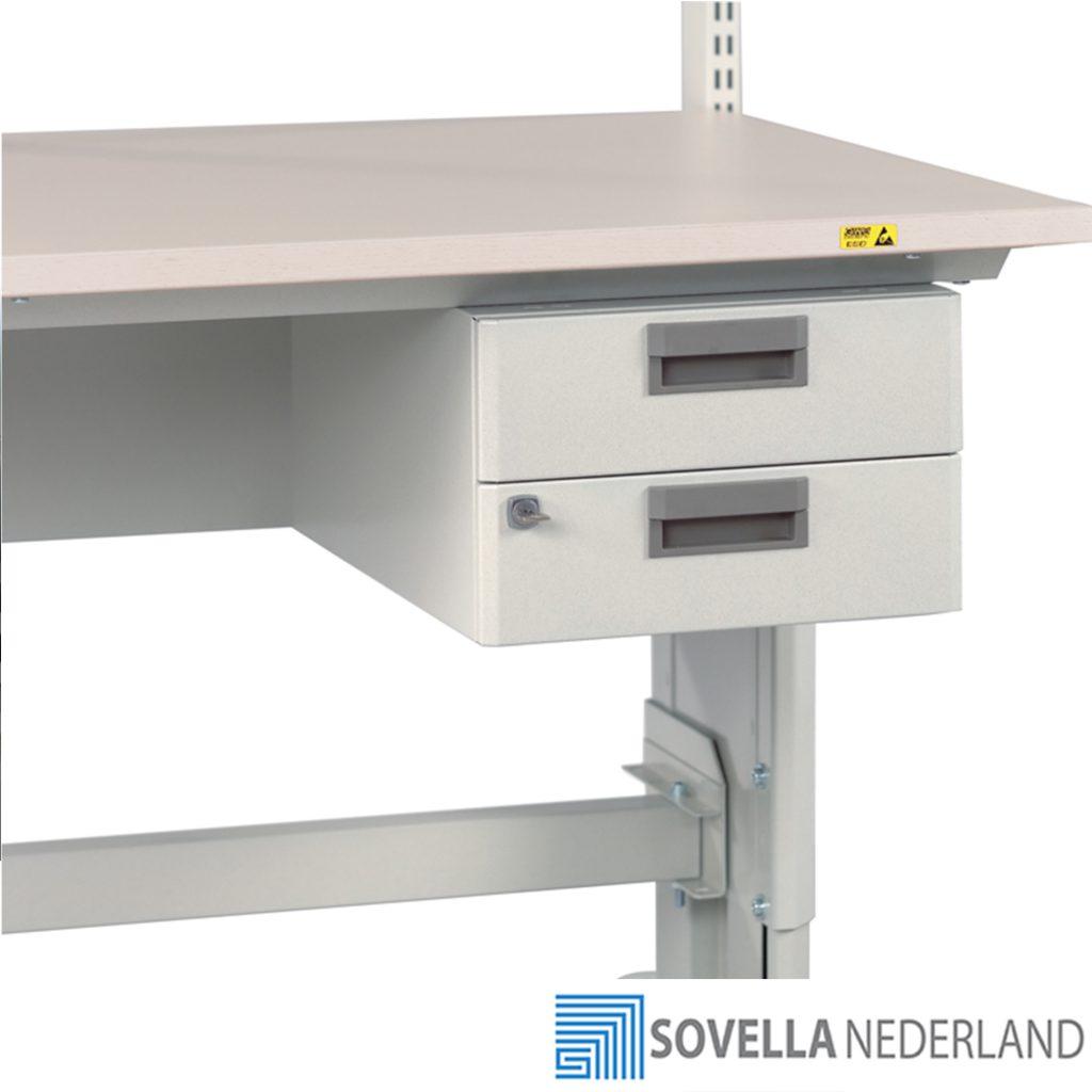 Sovella Nederland Treston ladekast dubbel voor onder een inpaktafel