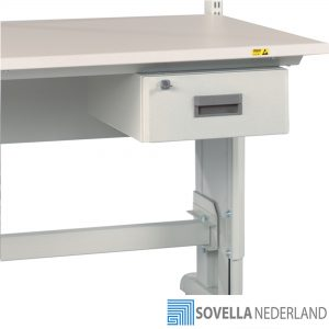 Sovella Nederland Treston ladekast met enkele lade onder een inpaktafel