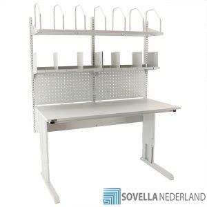 Sovella Nederland Treston paktafel inpaktafel met perfo paneel, flex legborden en kartonlegbord