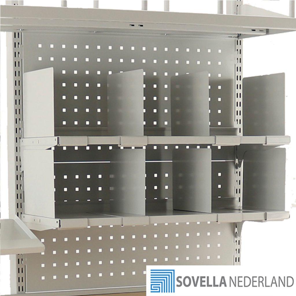 Sovella Nederland Treston flexibele verdeler voor op een legbord op een inpaktafel