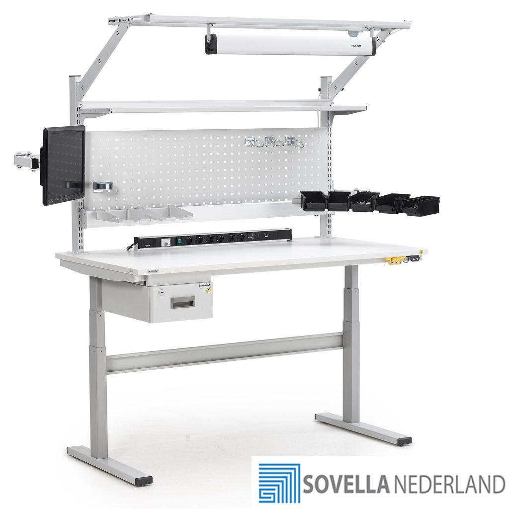 Sovella Nederland Treston TED elektrisch verstelbare werktafel voor retour goederen